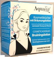 AQUATÉAL Kosmetiktücher mit Bräunungslotion, 8 Stück